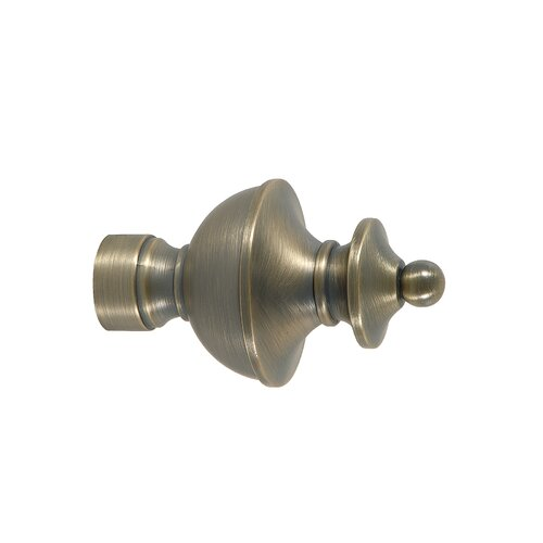 Eastern Accents Metallique Turret Curtain Finial