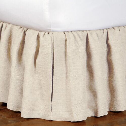 Rustique Burlap Ruffled Bed Skirt