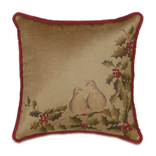 Eastern Accents Deck The Halls Two Turtle Doves Decorative Pillow