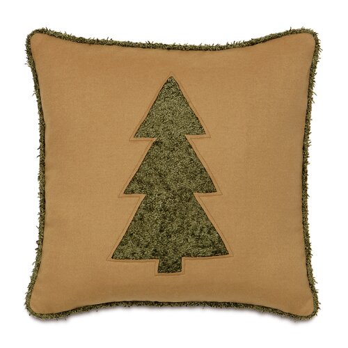 Candy Cane Fluffy Evergreen Decorative Pillow