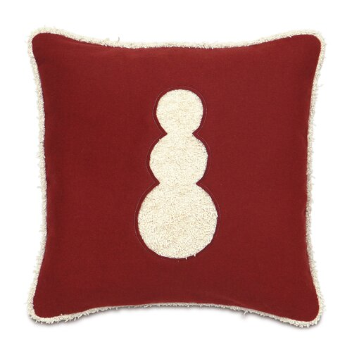 Candy Cane Fluffy Snowman Decorative Pillow