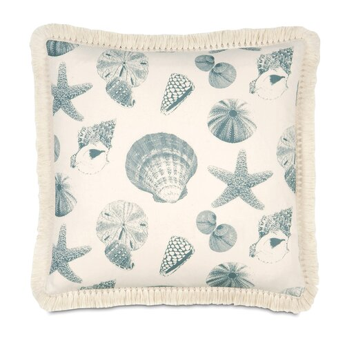 Coastal Tidings Sea Life Decorative Pillow