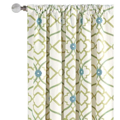 Eastern Accents Bradshaw Cotton Rod Pocket  Curtain Single Panel