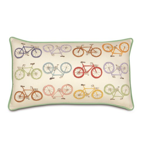 Eastern Accents Pinkerton Eli Polyester Bicycles Decorative Pillow