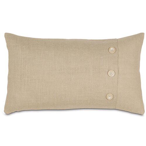 Rustique Burlap Polyester Knife Edge Decorative Pillow