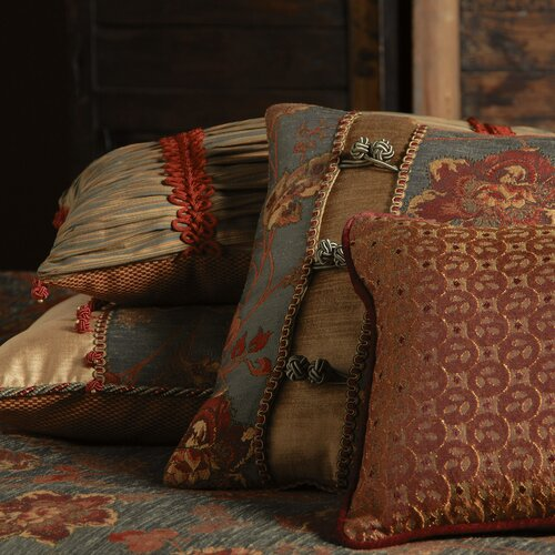 Eastern Accents Minori Miyama Mineral Ruched Polyester Decorative Pillow