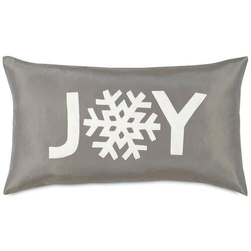 Dreaming of a White Christmas Snowflake Joy Pillow