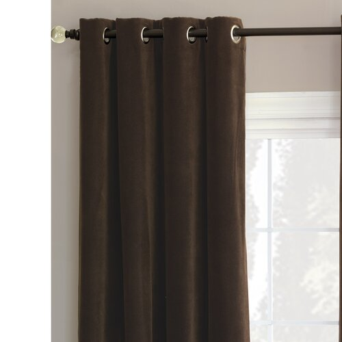 Eastern Accents Jackson Solid Velvet Cotton Grommet Curtain Single Panel