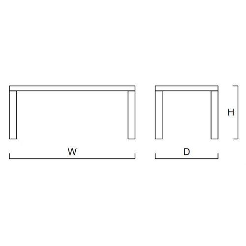 DG Furniture Bianca Rectangular Dining Table in 2 Pak White