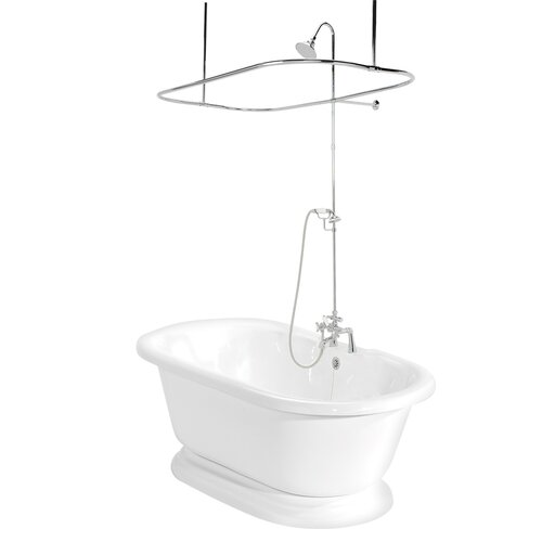 "American Bath Factory Nobb Hill 60"" x 32"" AcraStone Double Ended Bathtub"