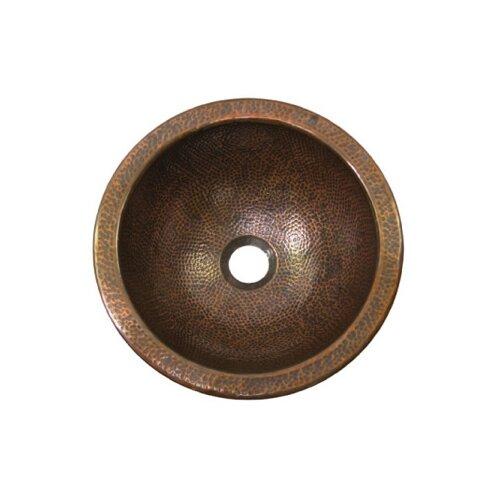 Houzer Hammerwerks Flat Lip Petite Round Bathroom Sink