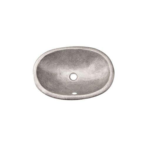 Houzer Hammerwerks Self Rimming Ellipse Bathroom Sink