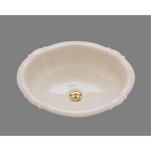 Ceramics Georgia Drop In Bathroom Sink with Overflow