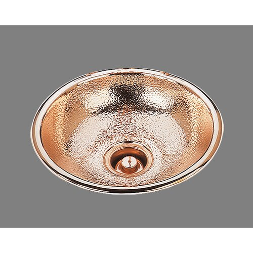 Bates & Bates Sculpted Metals Round Hammertone Drop In Bathroom Sink