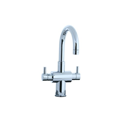 Techno Single Hole Bathroom Sink Faucet with Double Lever Handles