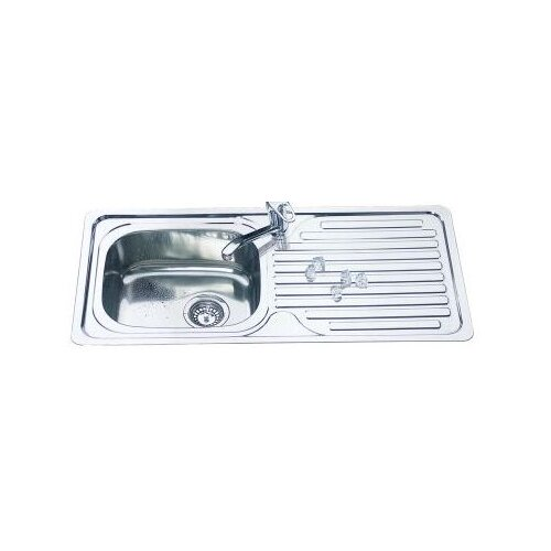 Ostar Duano Single Square Bowl 92cm Inset Sink with Drainer