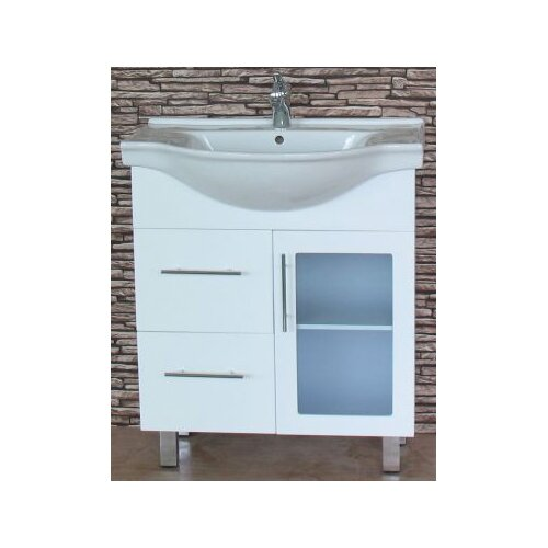 Ostar P Series 75cm Semi Recessed Vanity with Legs