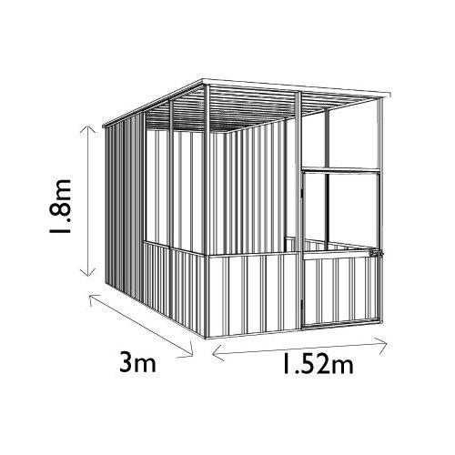Absco Sheds Aviary Flat Roof Kit 15301FK