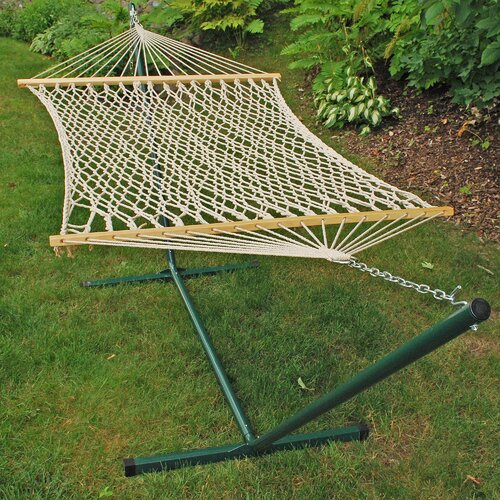Algoma Net Company Rope Hammock and Stand Set