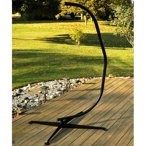 Algoma Net Company C-Frame Hanging Chair Stand in Bronze