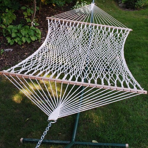 Algoma Net Company Chambers Island 2-Point Cotton Rope Hammock
