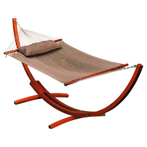 12' Arc Stand and Caribbean Hammock with Pillow
