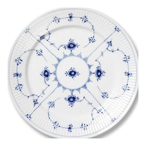 "Royal Copenhagen Blue Fluted Plain 10.75"" Dinner Plate"