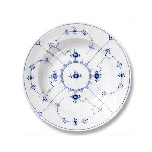 """Royal Copenhagen Blue Fluted Plain 9"""" Soup Plate"""