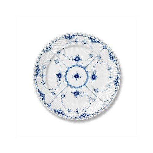 "Royal Copenhagen Blue Fluted Full Lace 6.75"" Bread and Butter Plate"