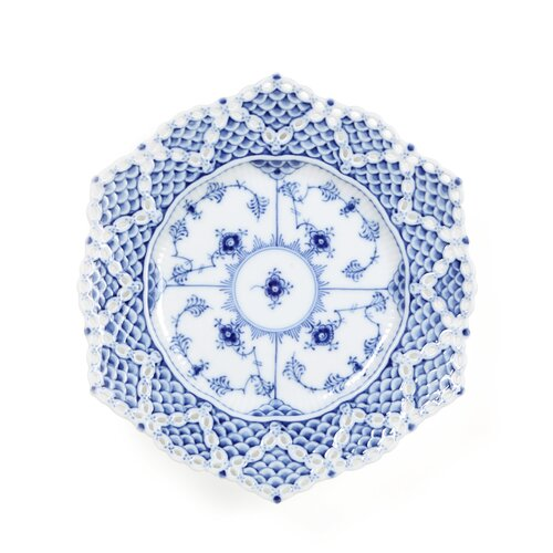 "Royal Copenhagen Blue Fluted Full Lace 8.25"" Plate"