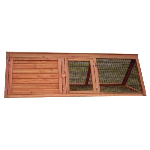 All Pet Products Wooden Rabbit Hutch with A Frame and Base