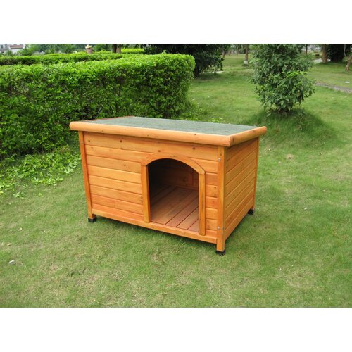 All Pet Products Side Entry Wooden Kennel With Plastic Door Flap