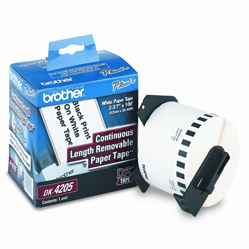 Brother DK4205 Removable Paper Label Tape