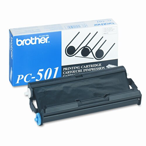 Brother PC501 Fax Thermal Transfer Ribbon, Black