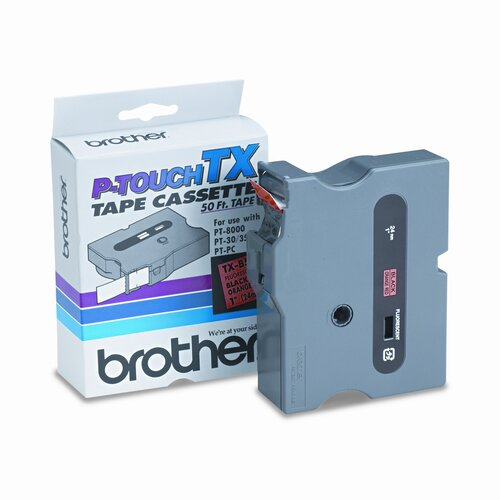 Brother TXB511 P-Touch Tape Cartridge for Pt-8000, Pt-Pc, Pt-30/35, 1W