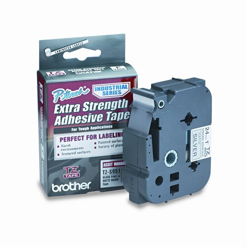 P-Touch Tz Extra-Strength Adhesive Laminated Labeling Tape, 1