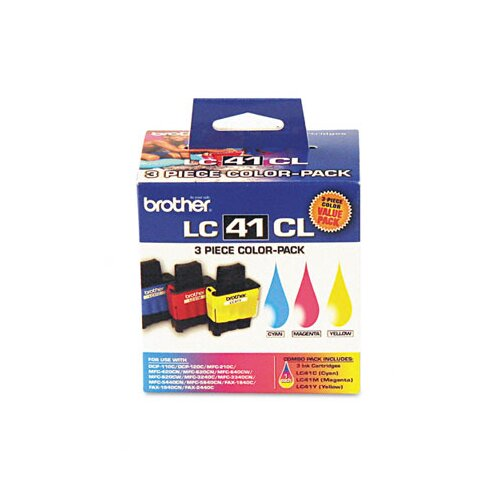 Brother LC413PKS Ink, 400 Page-Yield, 3/Pack