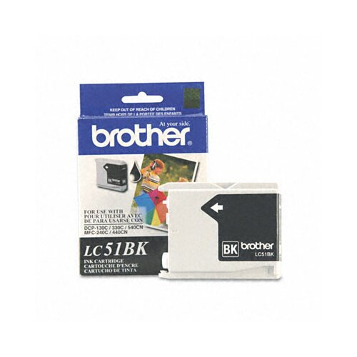 Brother Lc51Bk Innobella Ink, 500 Page-Yield