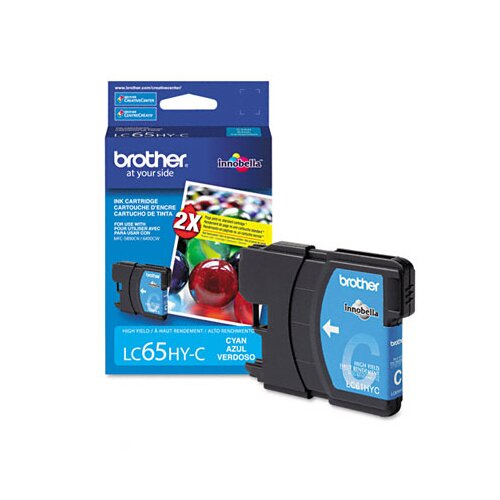Brother LC65HYC High-Yield Ink, 750 Page-Yield