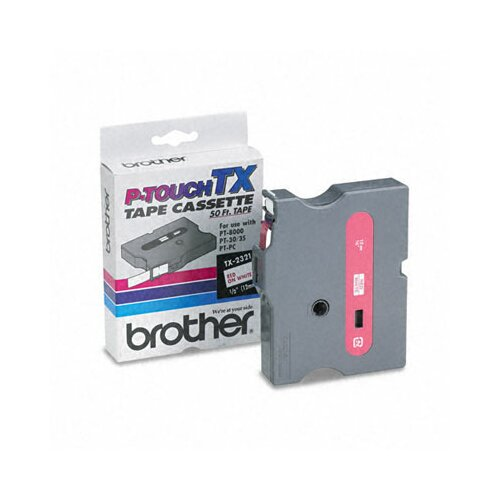 Brother TX2321 P-Touch Tape Cartridge for Pt-8000, Pt-Pc, Pt-30/35, 1/2W