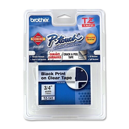 P-Touch Tze Extra-Strength Adhesive Laminated Labeling Tape, 3/4W