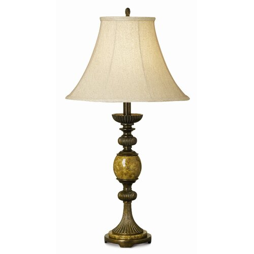 "Pacific Coast Lighting Essentials Riviera 31"" H Table Lamp with Bell Shade"