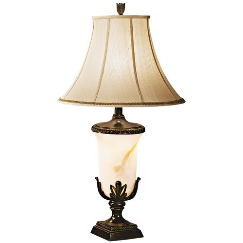 """Pacific Coast Lighting European Country Kathy Ireland Home Garden Blossom 36.5"""" H Table Lamp with Bell Shade"""