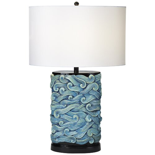"""Pacific Coast Lighting PCL Prince of Tides 32"""" H Table Lamp with Drum Shade"""