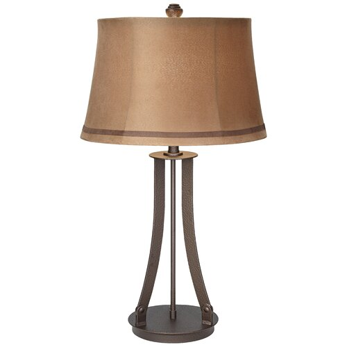 "Pacific Coast Lighting PCL Montana Arch 31"" H Table Lamp with Bell Shade"