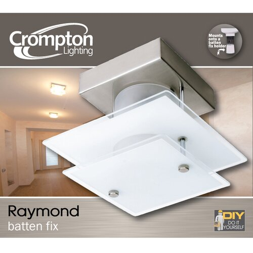 Crompton Lighting Small Square Modern DIY Flush Mount