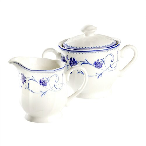 Noritake Rhapsody Blue Sugar and Creamer Set