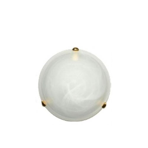 Lummax 40 cm Two Light Oyster Light with Alabaster Glass