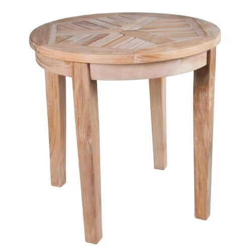 Arbora Teak Nantucket Solid Teak Round Side Table