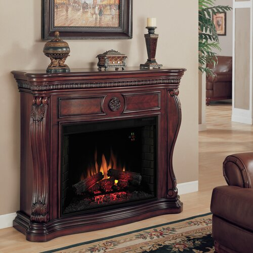 electric fireplace mantel surround wayfair